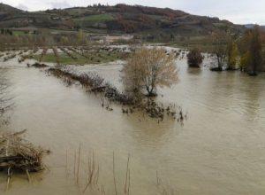 Alluvione del Bormida: Bubbio allagato