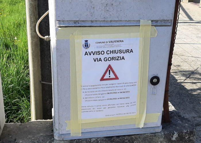 Chiusura via Gorizia