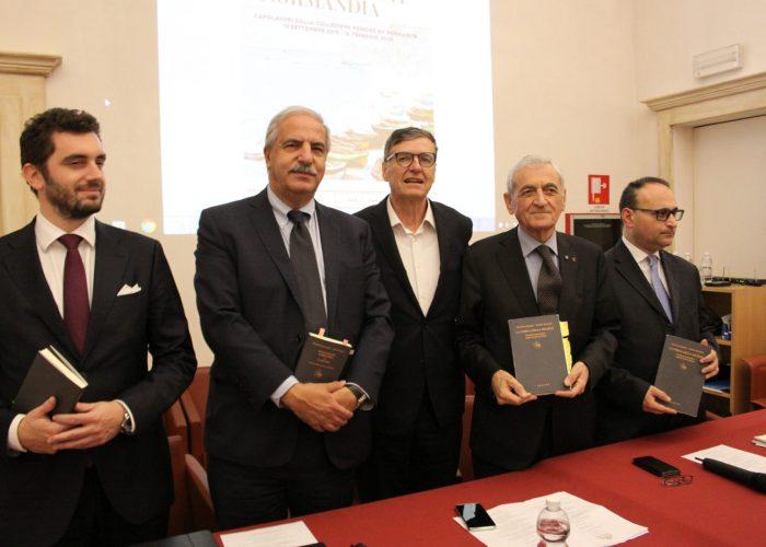 I relatori dell'incontro a Palazzo Mazzetti
