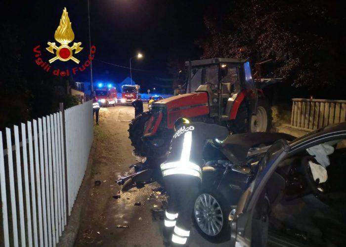 Incidente Cantarana Alfa Romeo trattore