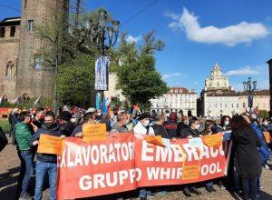 Lavoratori ex Embraco a Torino