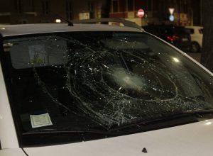 auto vandalo in piazza Catena
