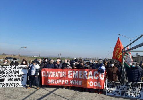 Manifestazione Embraco 17 febbraio