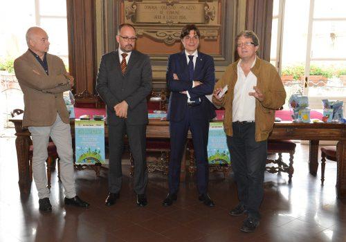 I relatori alla conferenza stampa di presentazione
