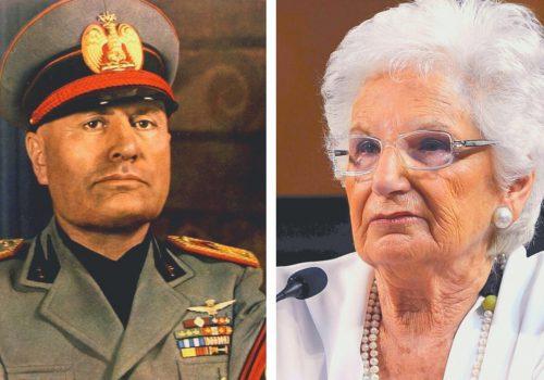 Benito Mussolini e Liliana Segre