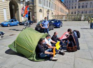 Presidio lavoratori Embraco a Torino