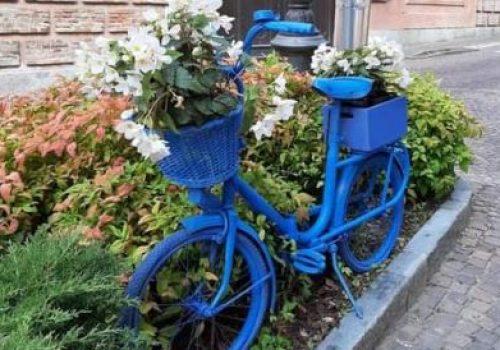 bici blu