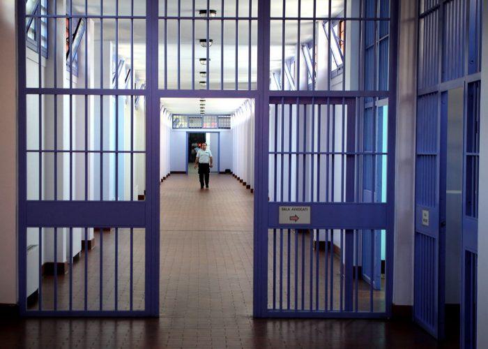 verona il presidente della provincia Miozzi  in visita al carcere di Montorio    foto: sartori fotoland