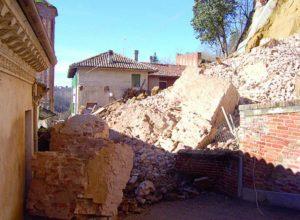 Frinco: soldi per le maceriee la messa in sicurezza dopo il crollo
