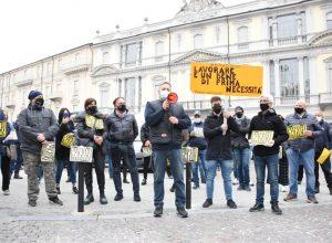 La protesta degli ambulanti di Asti contro il DPCM