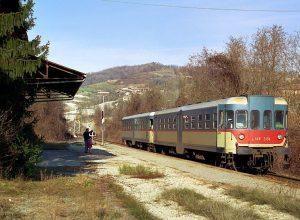 treno alla stazione di cocconato