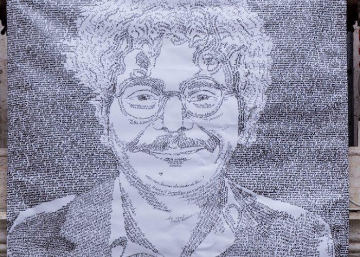 Ritratto di Patrick Zaki opera dell'artista Francesca Grosso